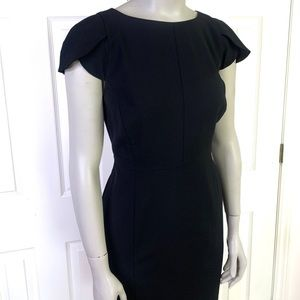 J. Crew black wool dress w split sleeves
